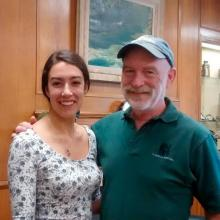 Grace Thornton with Dr. Michael Cranfield, founder of Gorilla Doctors