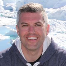 Jamie Snook at Greenland's Ilulissat Icefjord