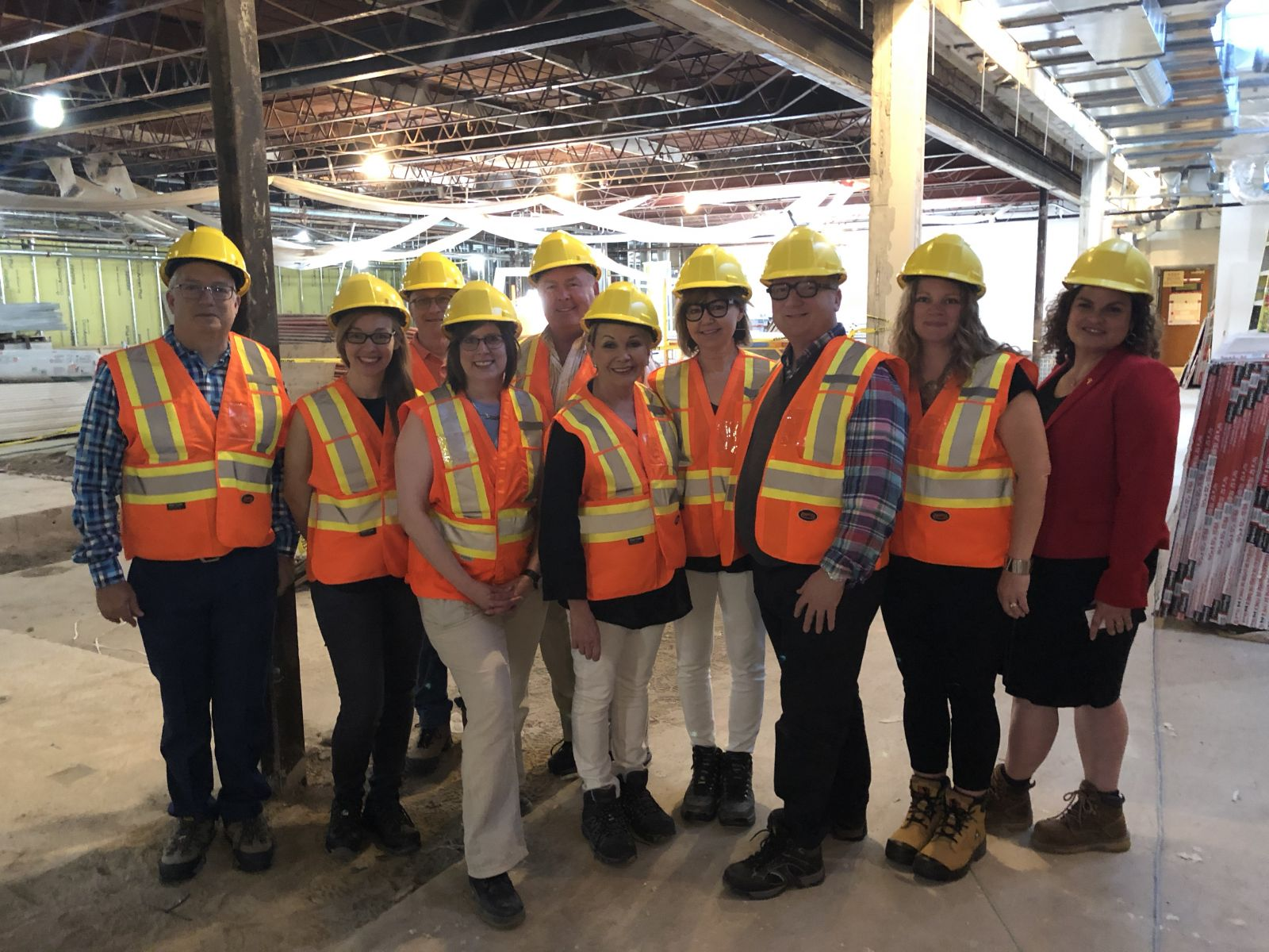 Touring the OVC Health Sciences Centre construction renovations