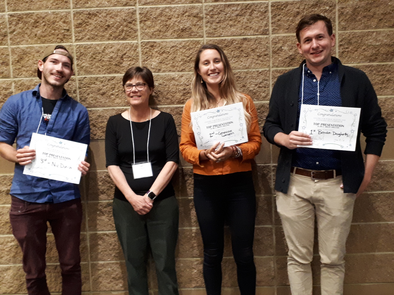 CPHAZ Symposirum student winners