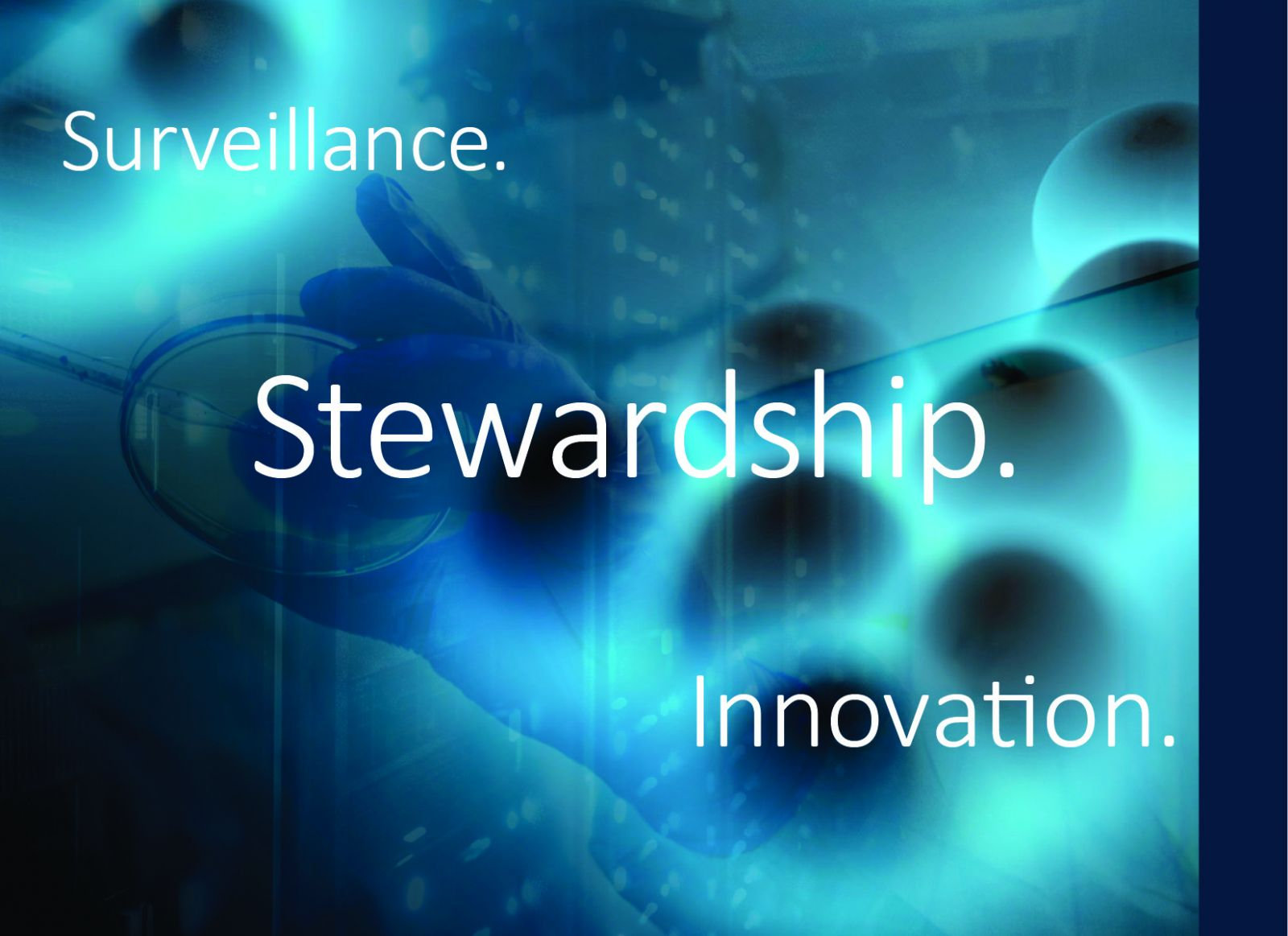 Image illustrating antimicrobial surveillance, stewardship and innovation