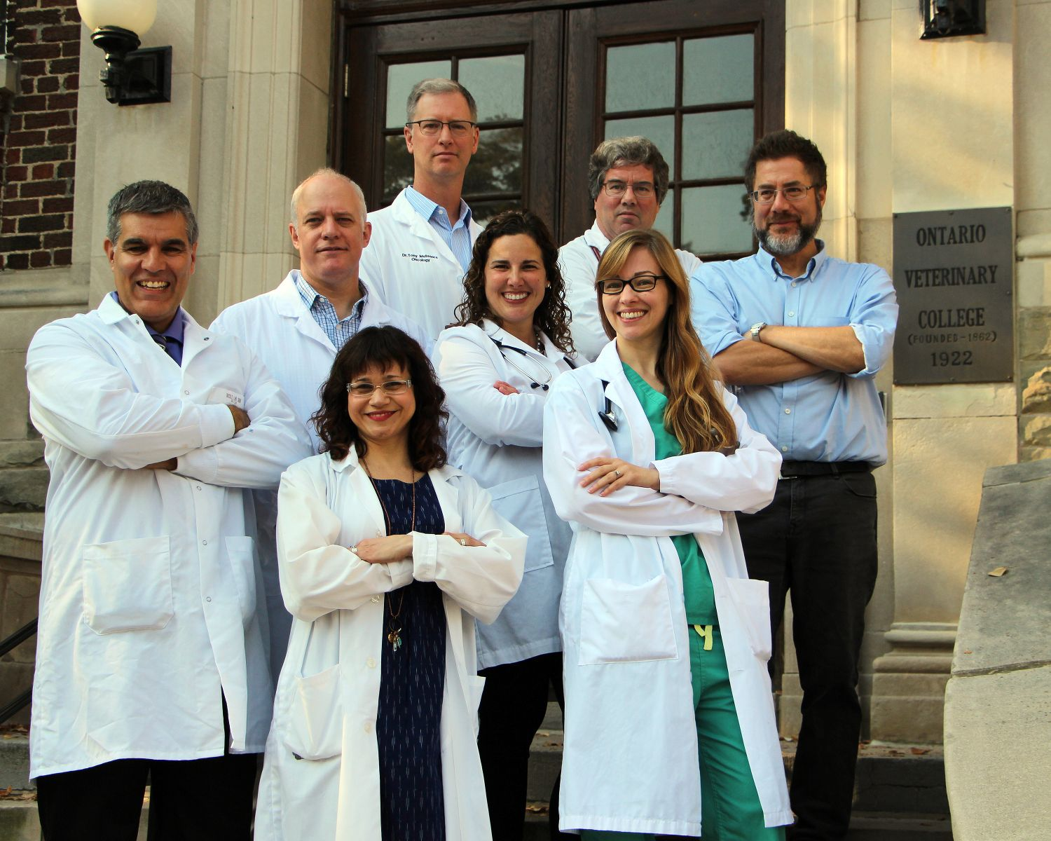 Photo of Ontario Veterinary College researchers who are part of the DOGBONe research group.