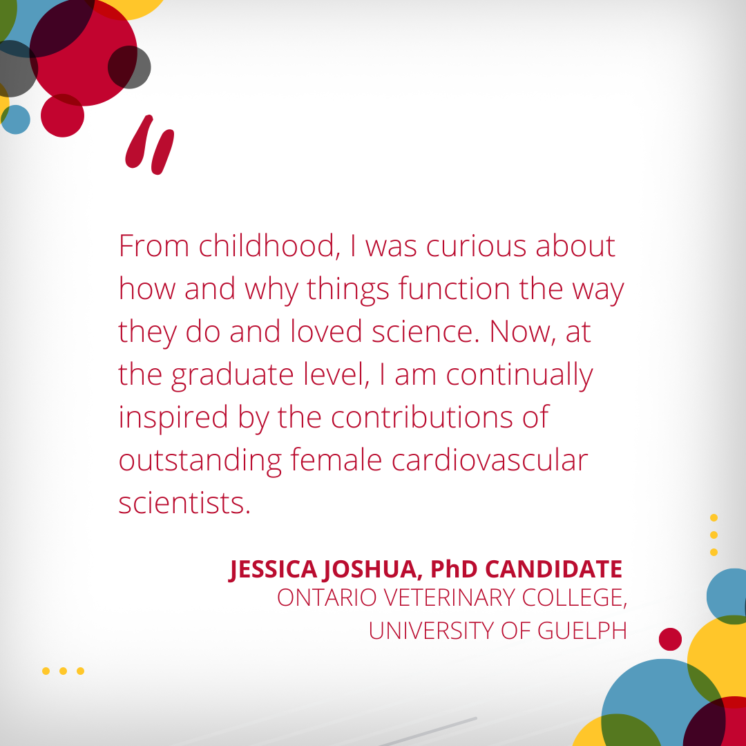 Jessica Joshua, PhD candidate, International Women's Day 2021
