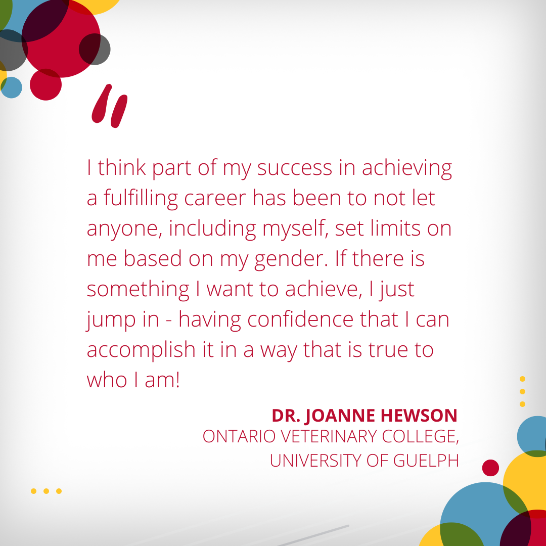 Joanne Hewson, Ontario Veterinary College, University of Guelph, International Women's Day 2021