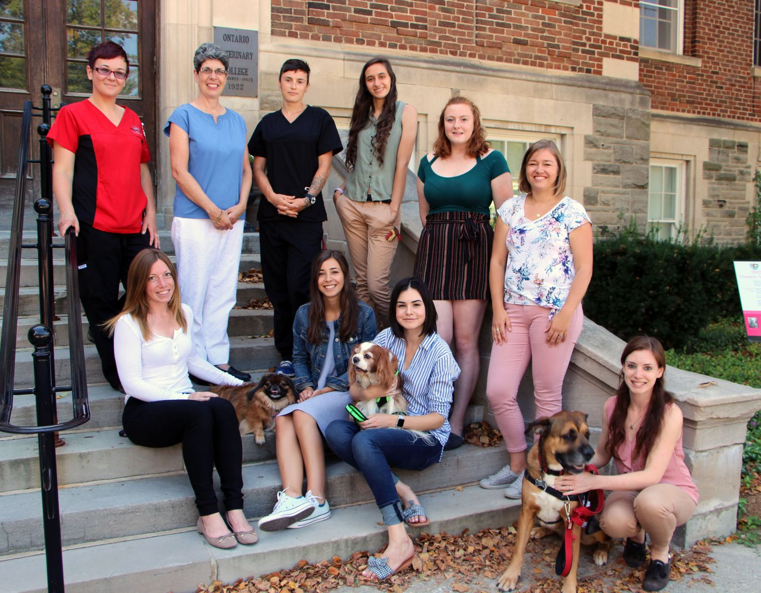 Current and Past Members of the Ontario Veterinary College Nutrition Team